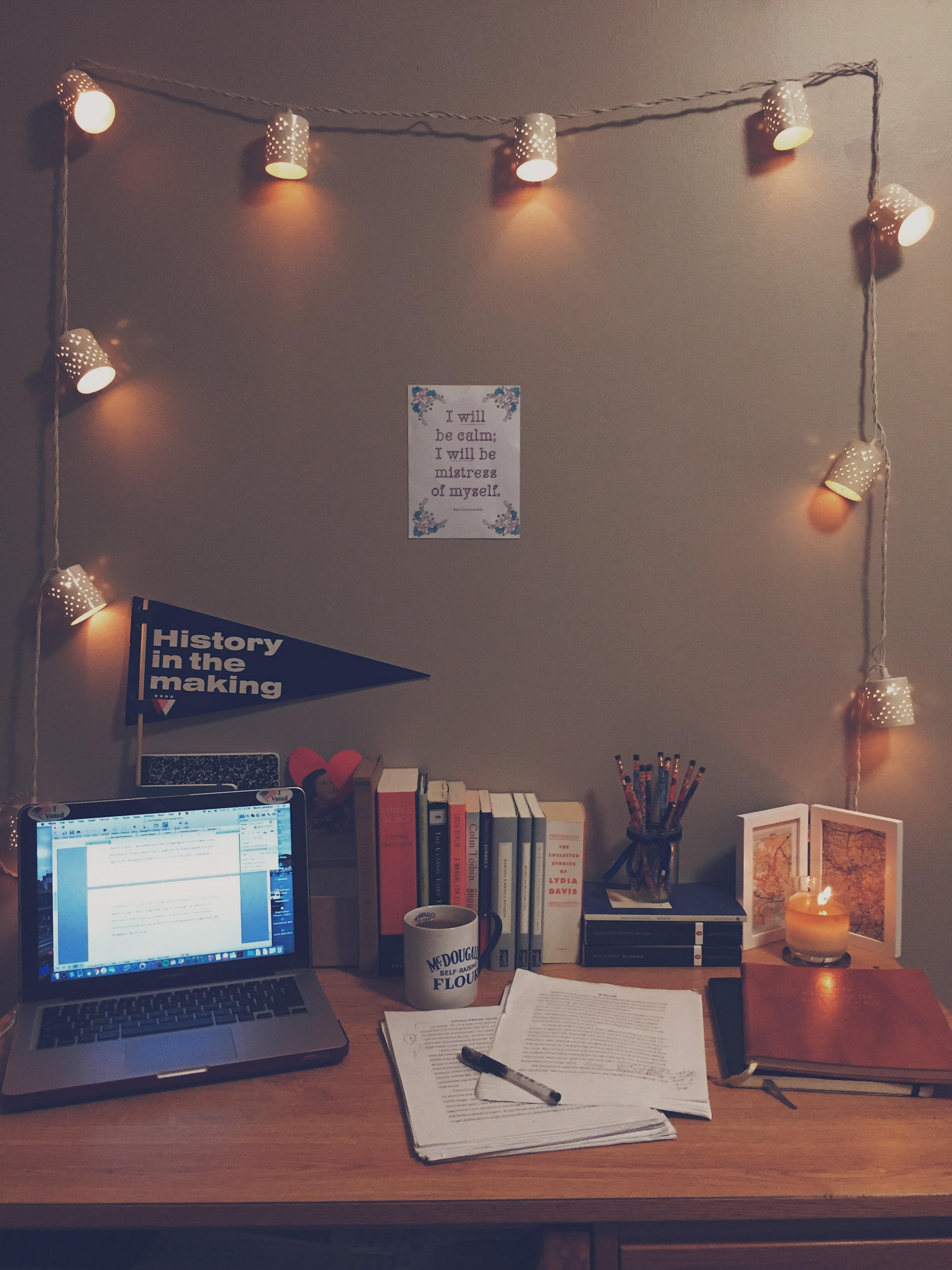 """In which I remember my thesis has a due date, so I spend an hour rearranging my desk"""