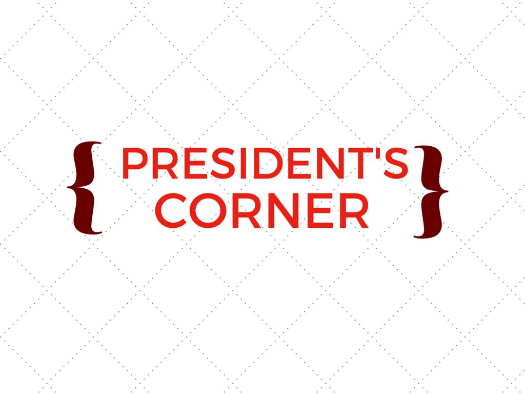 President's Corner: 9/21