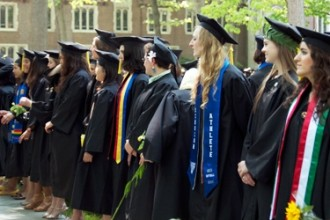 Wellesley students at graduation. Photo courtesy of Wellesley College