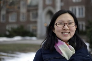 Linda Liu '19, from Beijing, had a video interview element to her application. Photo courtesy of Associated Press.