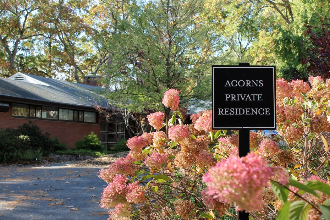 Acorns House is located behind Clapp Library with a lakeside view. | Photo courtesy of Connie Truong '17.