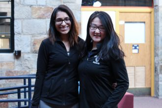 Rhea Advani '17 and Tina Zhang '19, co-founders of WeStart. | Photo by Connie Truong '17, Staff Photographer