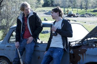 """Lukas (James Paxton) and Philip (Tyler Young) in """"Eyewitness"""" Photo courtesy of USA Network"""