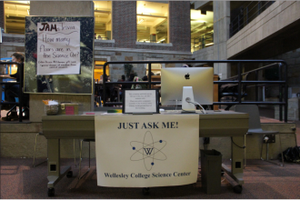 Just Ask Me is a new initiative implemented in the Science Center. | Photo by Alice Pan '20, Staff Photographer