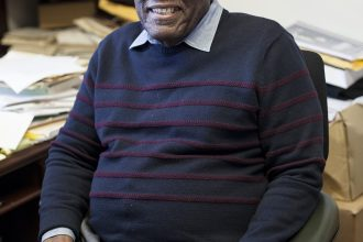 Professor Cudjoe has taught at Wellesley for 30 years. | Photo by Audrey Stevens '17, Photography Editor
