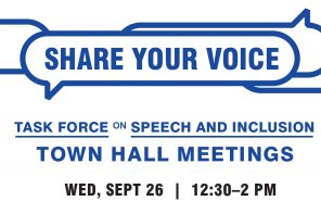 Task force on Speech and Inclusion holds first town hall of the semester