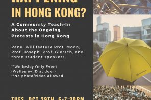 Students from Hong Kong lead teach-in on protests