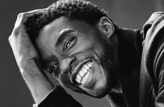 Chadwick Boseman smiling