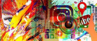 Artistic header of most social media platforms