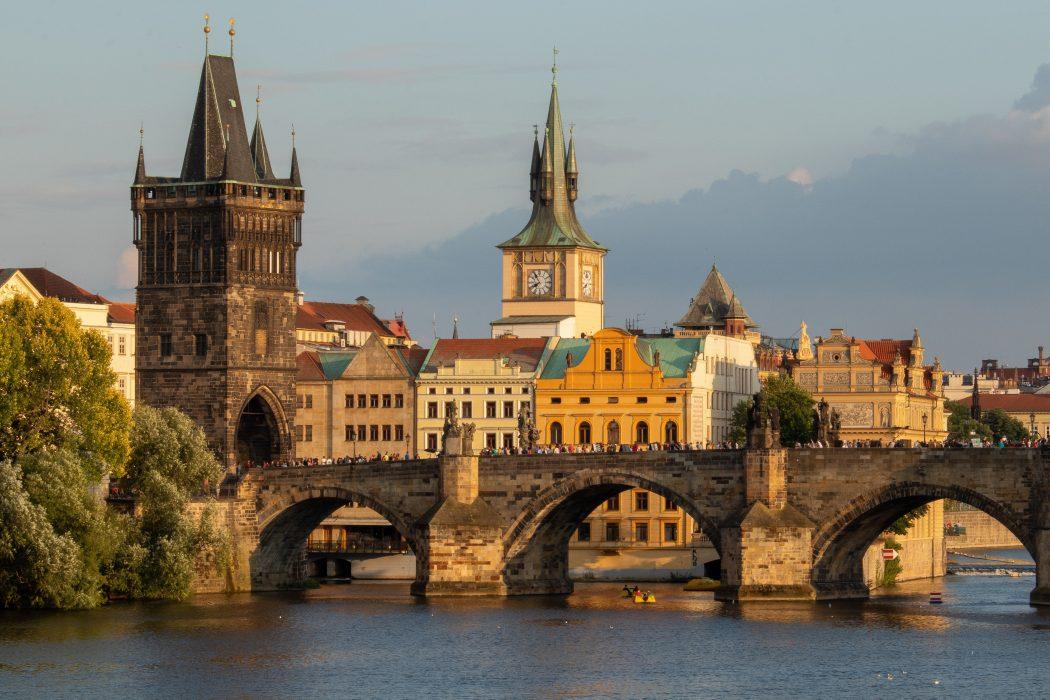 a bridge in Prague