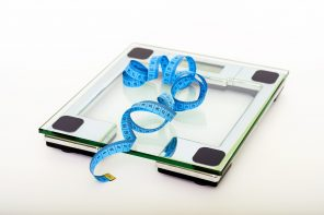 weighing scale against a white background