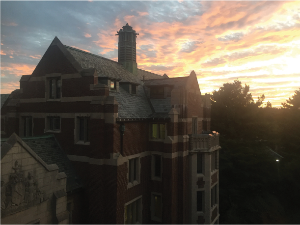 Senior snapshots her first dawn and dusk at Wellesley