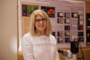 Lab instructor Ginny Quinan incorporates hands-on  learning in her teaching approach
