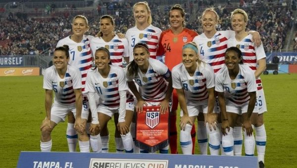 7e1b15cb6ac U.S. Women s National Team files lawsuit against Soccer Federation. Photo  Courtesy of Reuters Douglas Defelice - USA Today Sports